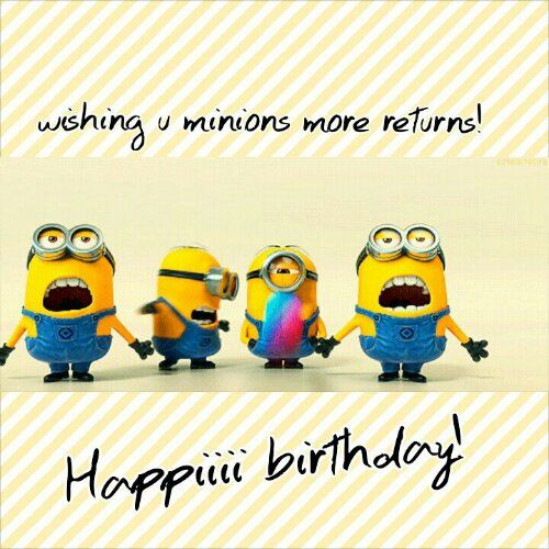 25 Funny Minions Happy Birthday Quotes: Minion Birthday Quotes. QuotesGram