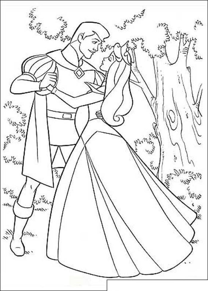 Aurora And Prince Philip Coloring Pages In 2021 Sleeping Beauty Coloring Pages Princess Coloring Pages Disney Princess Coloring Pages