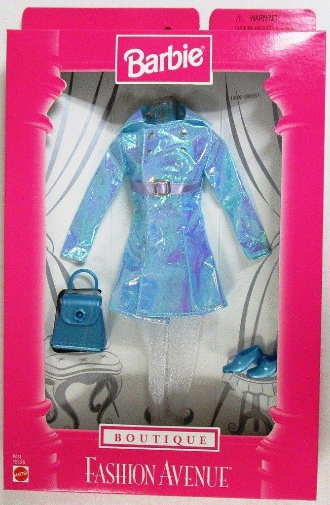 Barbie Fashion Avenue Boutique Ensemble 19202 Metallic Sky Blue Dress Ensemble Ebay Barbie Fashion Vintage Barbie Clothes Barbie Clothes