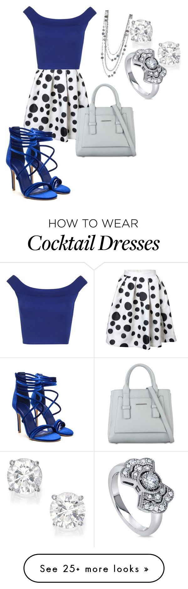 """""""polka dot dress"""" by hannahkenny-1 on Polyvore featuring WearAll and BERRICLE"""
