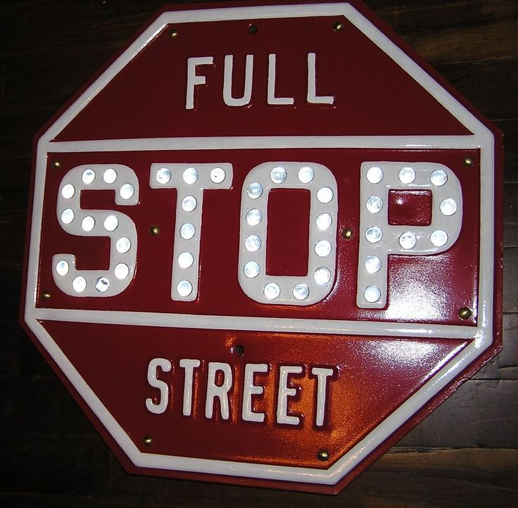Vintage, Antique, Rare Stop Sign, Cats Eye, Highway, Road, Traffic