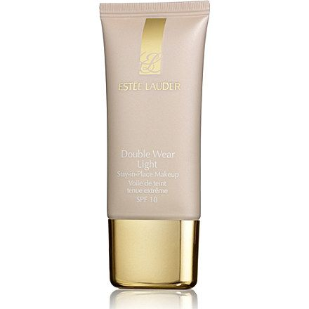 ESTEE LAUDER Double Wear Light Stay–in–Place Makeup SPF 10 (Intensity 1.0) I put this bad boy on top of my tinted moisturizer...perfection!