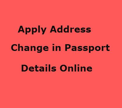 How can I apply online for change of address in my Indian passport