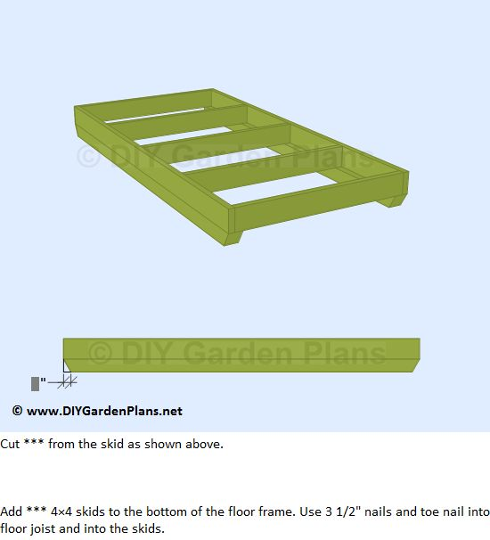 How To Build The Lean To Shed Floor