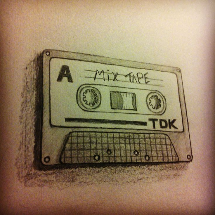 Old school tape.. Retro drawing