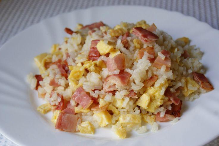 Anna recetas fáciles: ARROZ FRITO CON BACON Y TORTILLA