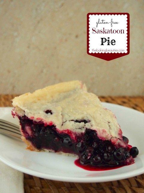 Gluten-free Saskatoon Pie | The Baking Beauties