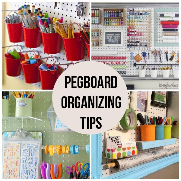 16 Pegboard Organizing Tips #craftroom #craftroomorganizing #artstudio
