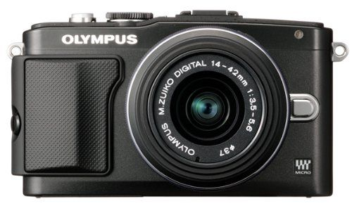 Review Cheap Olympus E-PL5 Interchangeable Lens Digital Camera with 14-42mm Lens (Black)