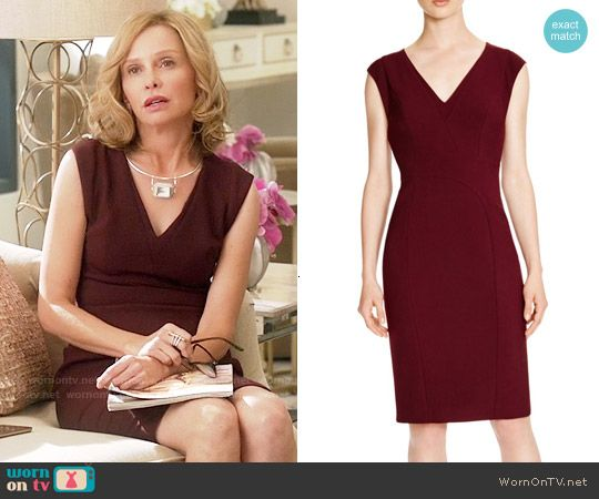Cat's burgundy v-neck dress on Supergirl.  Outfit Details: https://wornontv.net/55216/ #Supergirl