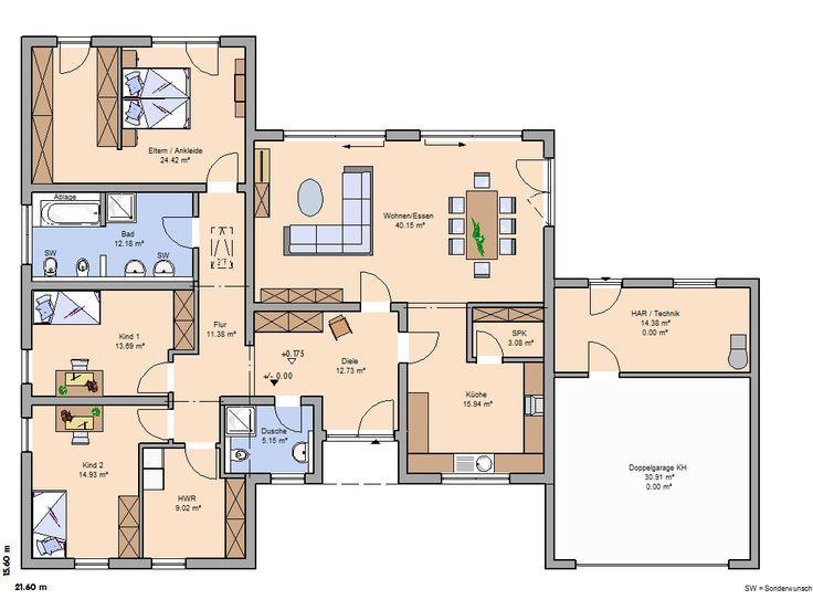Massivhaus mit doppelgarage  166 besten haus Bilder auf Pinterest | Grundrisse, Architektur und ...