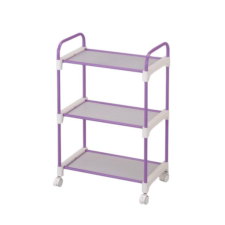 International Stainless Steel Lavender 3-tier Utility Cart