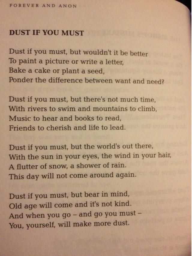 Love this! And it can be used when my boyfriend complains that I don't dust. ;)