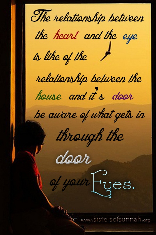 The door of your eyes!