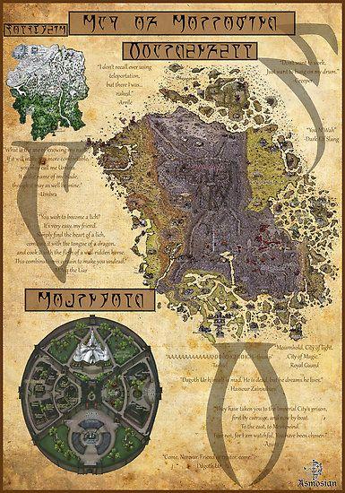 Morrowind map << I can read the Daedric xD