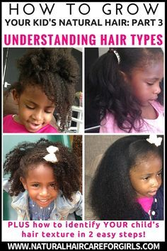 How to grow kid's natural hair for beginners PART 3 Hair Types and how to identify YOUR hair type in 2 easy steps! — Natural Hair Care for Girls