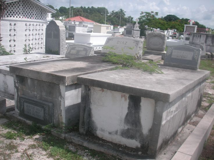 The above-ground crypts at Key West City Cemetery