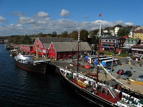 Fisheries Museum of the Atlantic - Lunenburg, Nova Scotia - Kite Aerial Photography (KAP)
