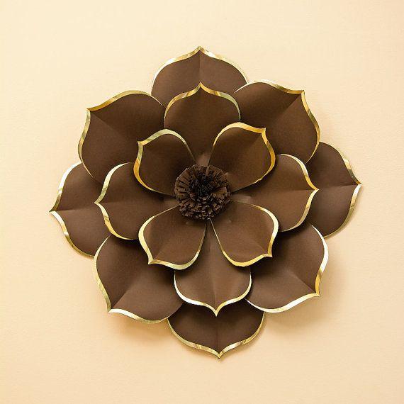 Flor de papel de diseño exclusivo  lujo flor pared  flor