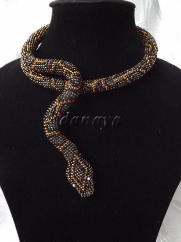 Beaded Snake necklace