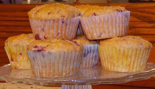 Little Bit of Everything: SMS - Strawberry Lemon Rosemary Muffins & A Winner