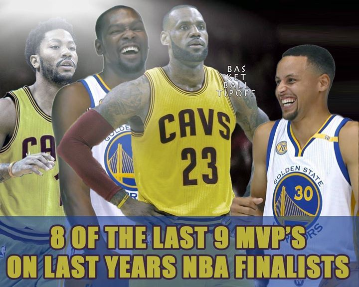 Derrick Rose Kevin Durant Lebron James and Stephen Curry have 8 of the last 9 MVPs. Is this fair?