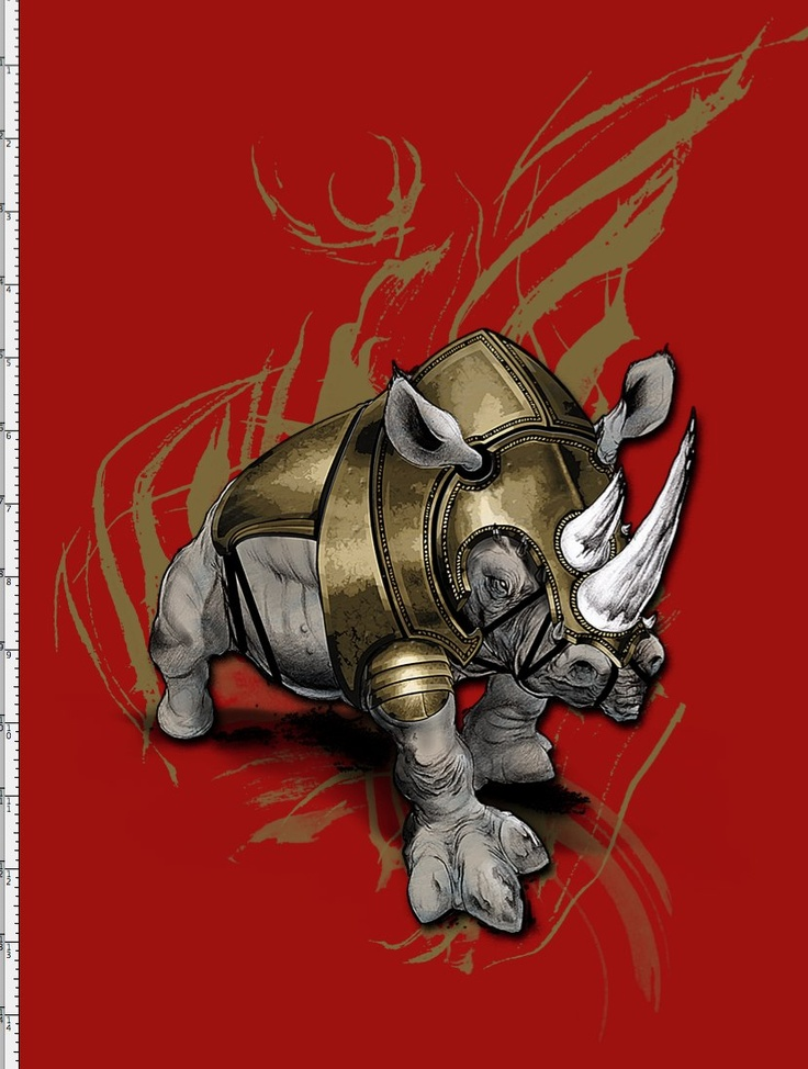 Armored Rhino illustrated for House of Pain™ Things that