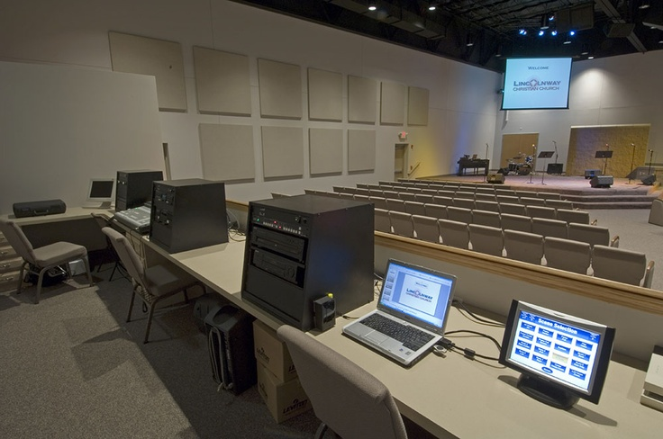 Church With Similar Layout Notice Ceiling Painted Black Sound Booth Could Be In Back Of Church
