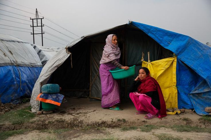 Approaching the first anniversary of the Nepal earthquakes, many people still live in squalid conditions in a tent encampment in central Katmandu,  Nepal, March 30, 2016.