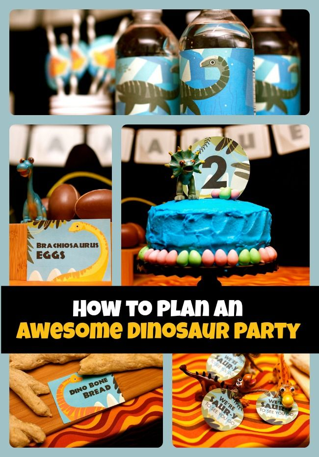 What cute ideas!  How to Plan a Dinosaur Themed Birthday Party