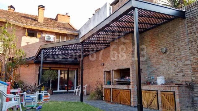 techo de policarbonato, pergolas, aleros: Pergolas en hierro metal, diseño techos en hierro, chapa, policarbonato