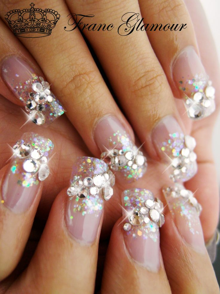 86 Best Images About Blinging Long Nails On Pinterest
