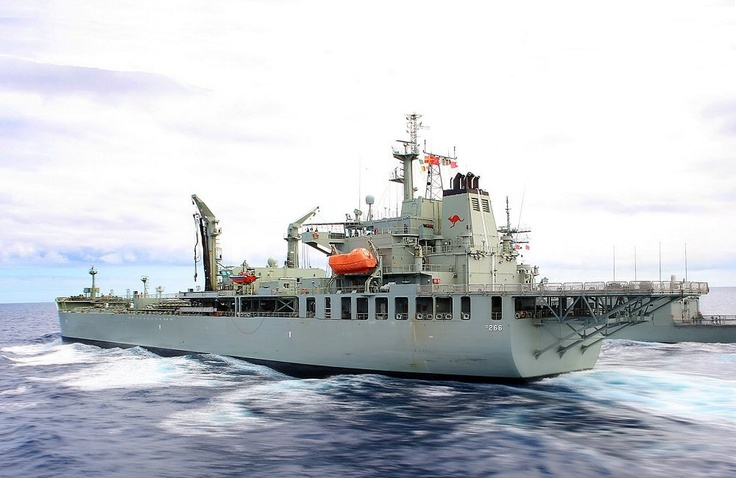 HMAS Sirius (O 266) (formerly MT Delos) is a commercial tanker purchased by the Royal Australian Navy and converted into a fleet replenishment vessel to replace HMAS Westralia. Launched in South Korea on 2004, and converted in Western Australia, HMAS Sirius was commissioned in 2006.