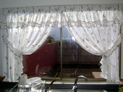 cortina gasa de cocina