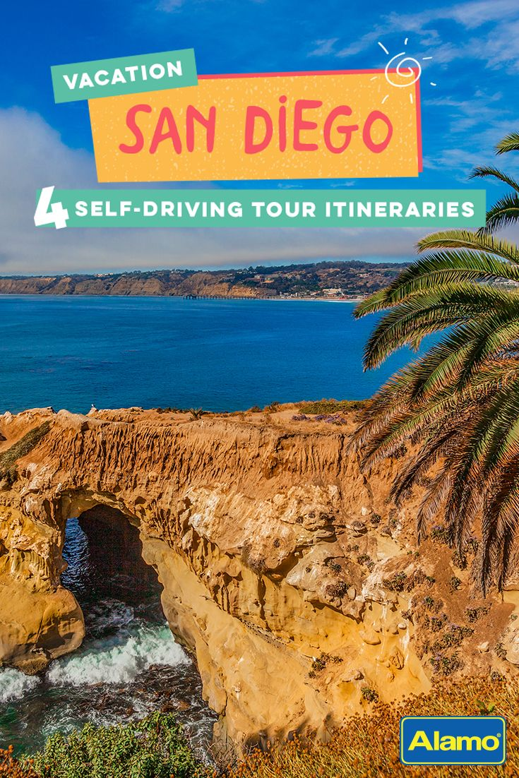 "From mouthwatering Mexican food to panoramic sunset views and even sea lion entertainment, San Diego has something for everyone. Pin to save our four favorite scenic self-driving tours around ""America's Finest City."""