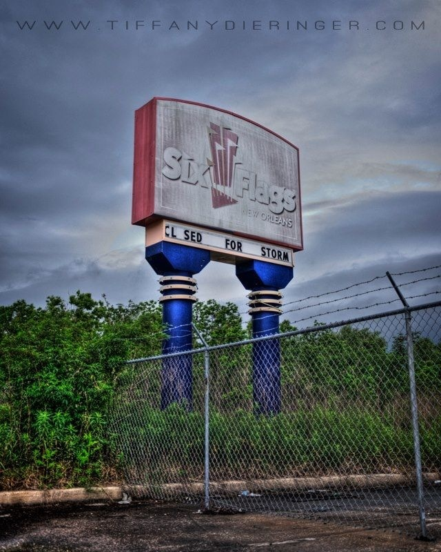 Best JazzlandSix Flags New Orleans Images On Pinterest - 10 years hurricane katrina six flags theme park new orleans still lies abandoned 10 years