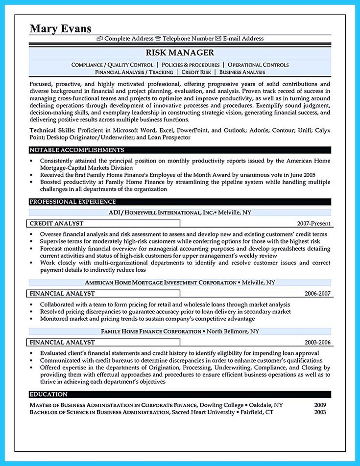 14 best Sample of professional resumes images on Pinterest - financial analyst resume example