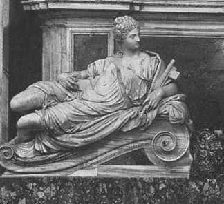 Giulia Farnese as Justice | Giulia on her brother's papal tomb - Pope Paul III
