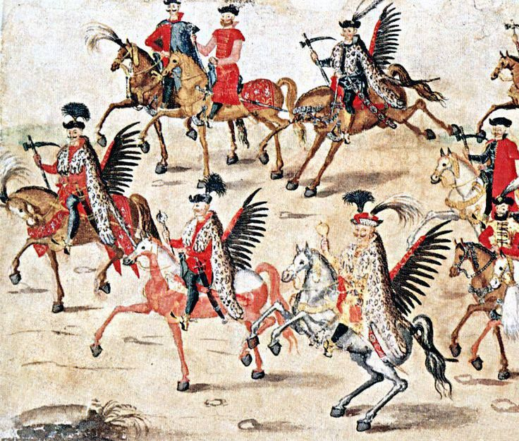 """Hussars officers 1605. Part of the """"Stockholm Roll""""."""
