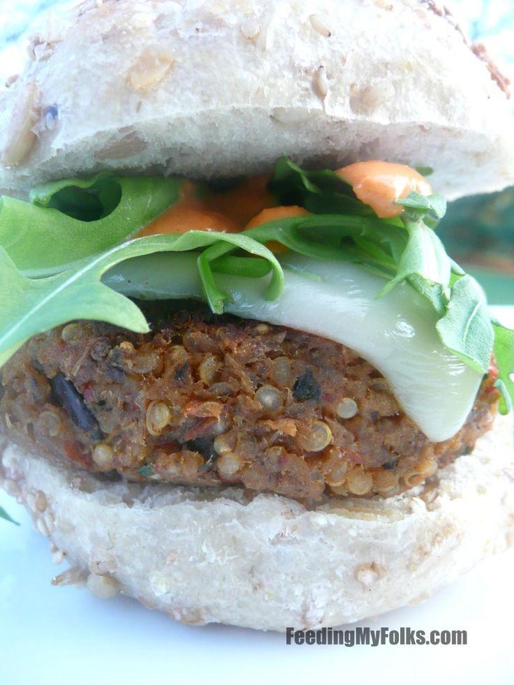 Eggplant burgers | Quinoa & Burger Recipes | Pinterest