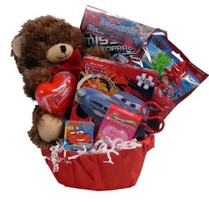 lil valentine boy gift basket - Valentine Gift Basket Ideas For Him