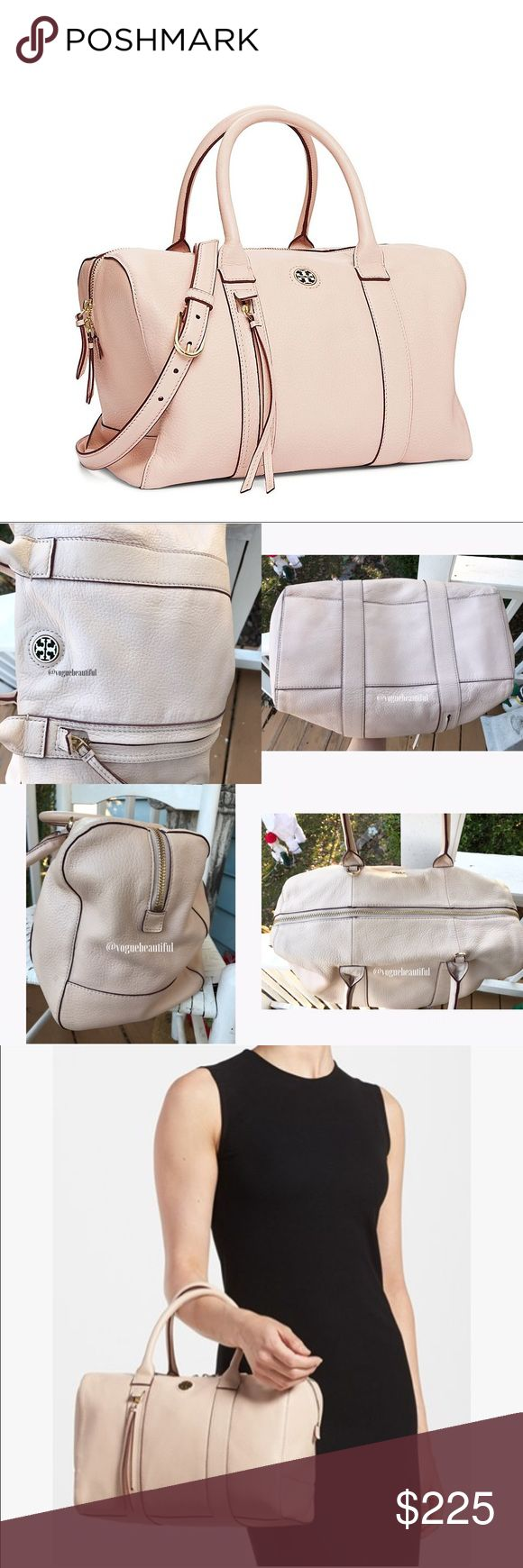"""XTRA PICS Tory Burch Large Brody Satchdl Light Oak Please see main listing for more information • 100% guaranteed authentic • Measures Approximately: 13"""" L x 8.5""""H x 6.5""""W • Preloved condition has some exterior marks and does not include crossbody strap or dustbag • please review all photos & ask any questions before purchasing • I would rate a 7.5/10 condition wise • it is slouchy but with use will look different than the photos • Retailed for $495 • ‼️NO TRADES‼️ Tory Burch Bags Satchels"""