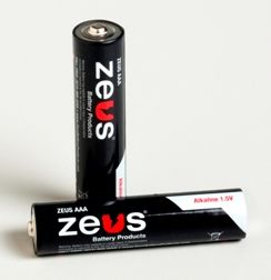 Zeus Alkaline Batteries are manufactured in various sizes to suit your application and needs. ZEUS AAA Alkaline Batteries are shipped in a carton of 40 pieces per order.  Features include: Sealed and Maintenance Free Operation, High Current & Large Capacity, Stable Voltage and Current, Excellent Storage Life. Applications include: Cameras, Electric Shavers, Electronic Calculators, Electronic Door Locks, Fire Detectors, High-Power Flashlights, Recorders, Toys, Other Cordless Products.