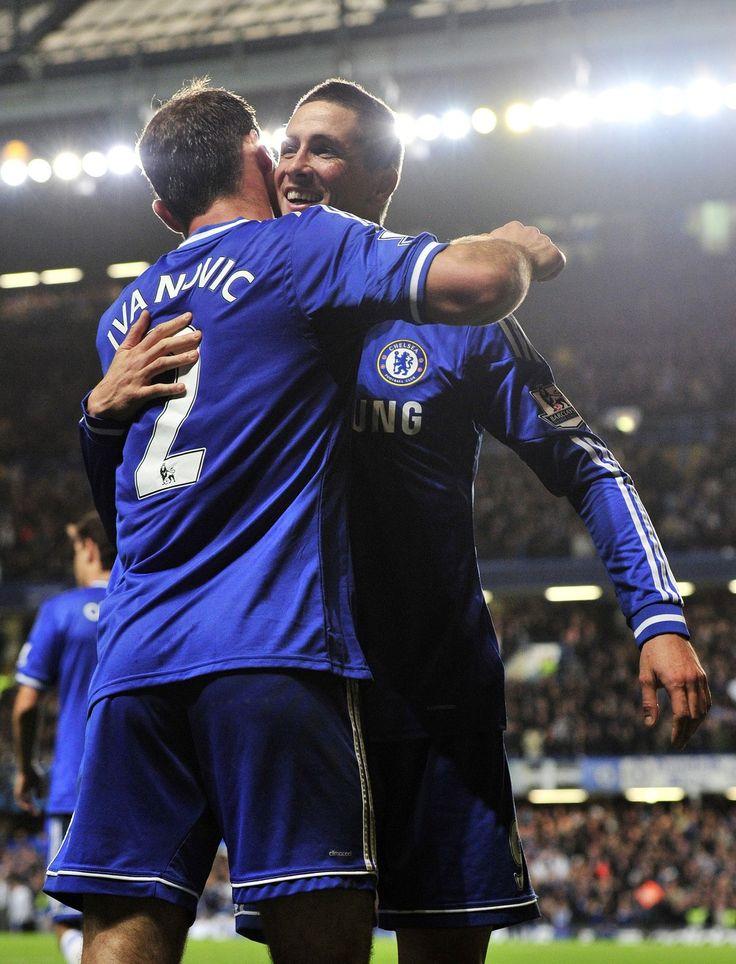 Branislav Ivanovic And Fernando Torres Chelsea 2 1 Manchester City Premier League TorresOctober 27Chelsea