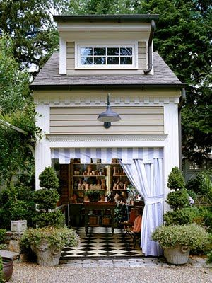 Two-Story Studio Garden Shed - Add drama to your potting shed by