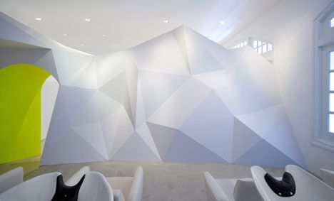 ACTIVE LAND faceted walls