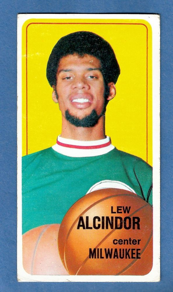 1970 Topps Lew Alcindor 75 Rookie Card Milwaukee Bucks Kareem Abdul