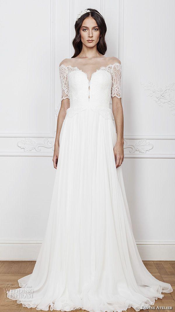 Divine atelier 2016 wedding dresses 2016 wedding dresses for Illusion sweetheart neckline wedding dress
