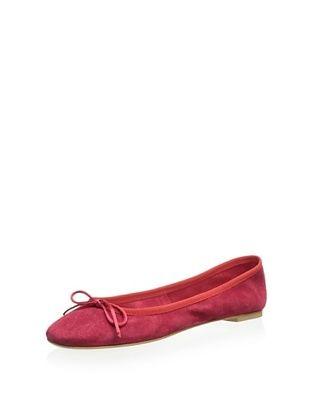 Modern Fiction Women's Mini Bow Ballerina Flat (Rosso)