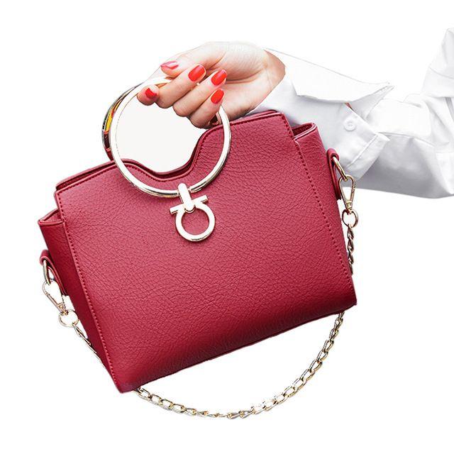 Женские кожаные сумки через плечо сумки слинг Crossbody сумка мода металлические цепи небольшой бахромой 2017 женские черные мешки